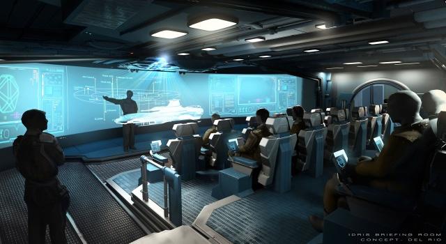 Star Citizen: Концепт – Комната для совещаний на корабле Idris