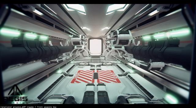 Star Citizen: Оружейный отсек корабля Retaliator (полноразмерное изображение по клику)