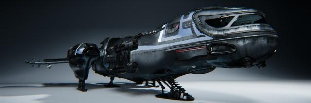 Star Citizen: Корпус Freelancer в состоянии посадки (вид спереди)