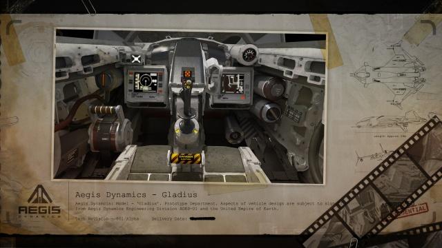 Star Citizen: Засекреченные чертежи Империи: Кокпит корабля Gladius