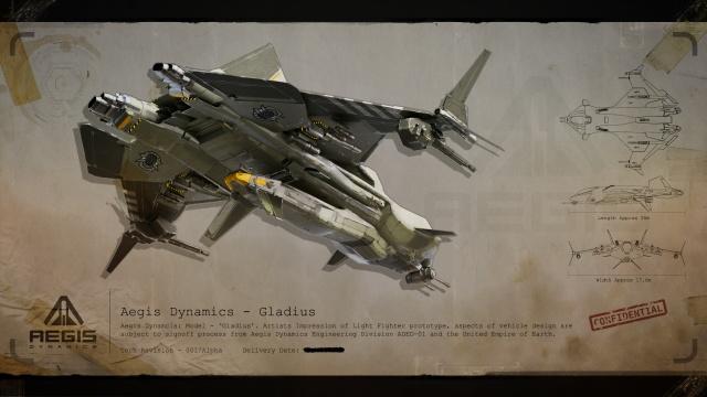 Star Citizen: Засекреченные чертежи Империи: Корабль Gladius, вид сзади