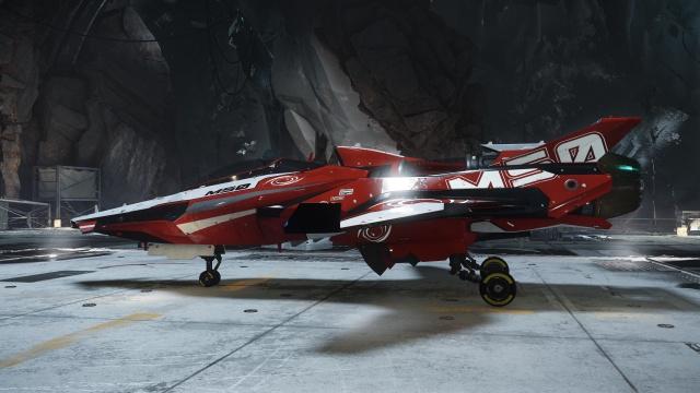 Star Citizen: Корабль M50 в Астероидном Ангаре (полноразмерное изображение по клику)
