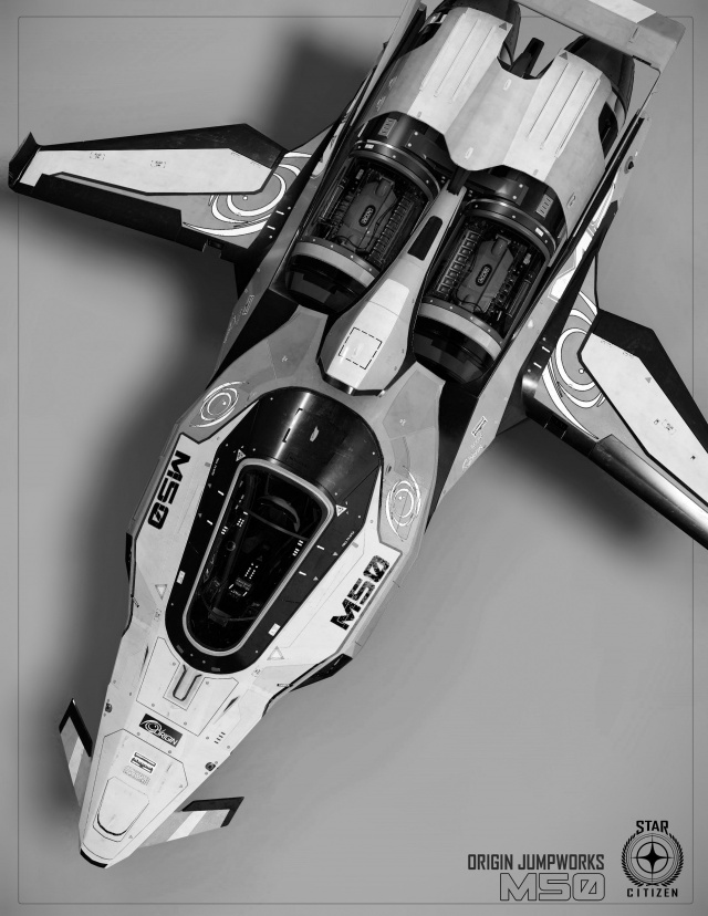 Star Citizen: Origin M50 в полутонах