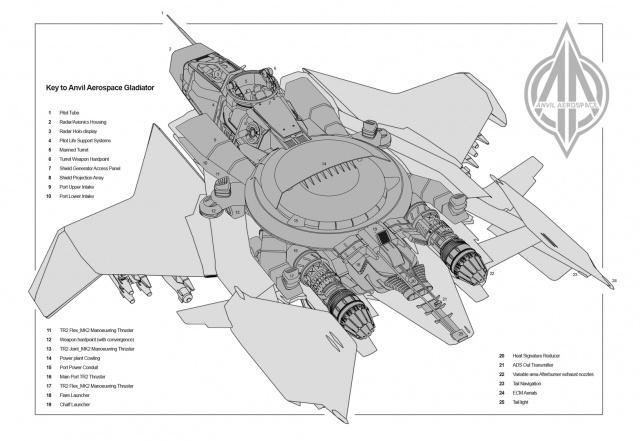 Star Citizen: Anvil Gladiator (полноразмерное изображение по клику)