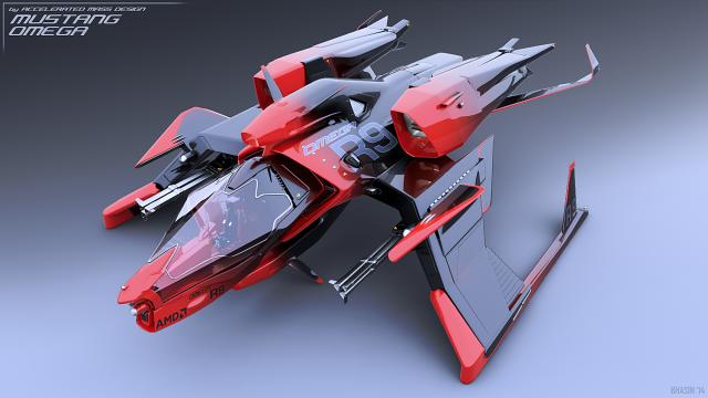 Star Citizen: Корабль Mustang Omega от Accelerated Mass Design (полноразмерное изображение по клику)