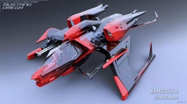 Mustang Omega Racer (в цветах AMD)