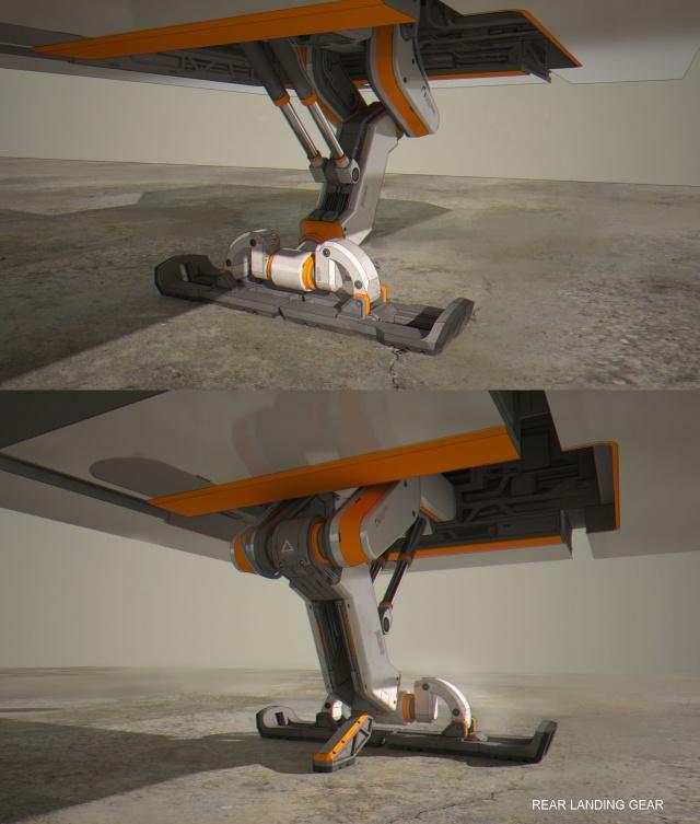 Star Citizen: Фрагмент: стадия концепта предполагает планирование каждой рабочей части судна! (Полноразмерное изображение по клику)