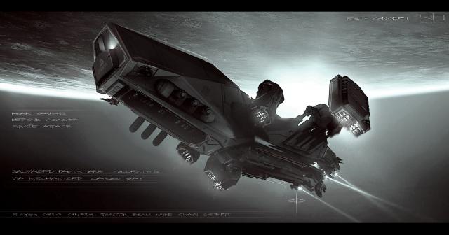 Star Citizen: Силуэт корабля Aegis Reclaimer