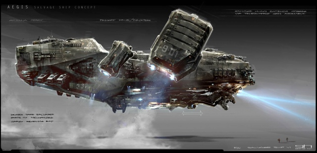 Star Citizen: Концепт корабля Aegis Reclaimer (полноразмерное изображение по клику)