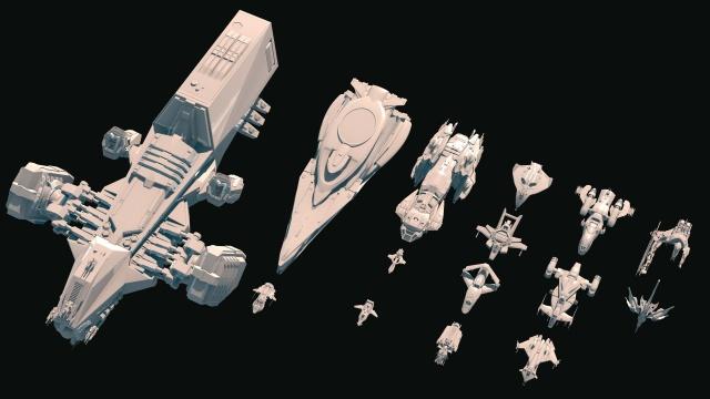 Сравнение размеров кораблей