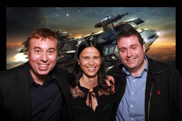 Star Citizen: Слева направо: Крис Робертс, Сэнди Гардинер, Эрин Робертс (полноразмерное изображение по клику)