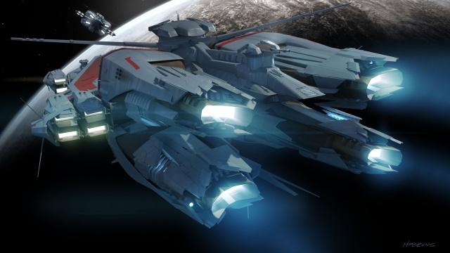 Star Citizen: Концепт эсминца Javelin (полноразмерное изображение по клику)