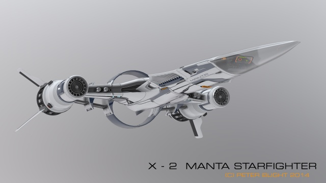 Star Citizen: Истребитель X-2 MANTA от пилота Chmee