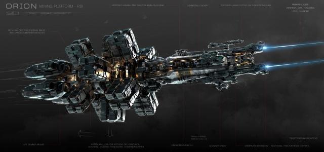 Star Citizen: Концепт рудодобывающего судна Orion