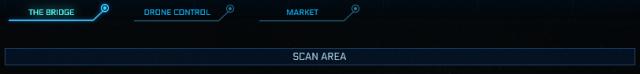 Star Citizen: Панель меню и кнопка Сканировать местность
