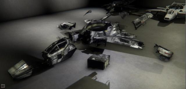 Star Citizen: Рисунок 2 – Некоторые состояния повреждений для корабля Hornet