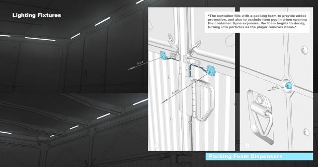 Star Citizen: Освещение внутри контейнера