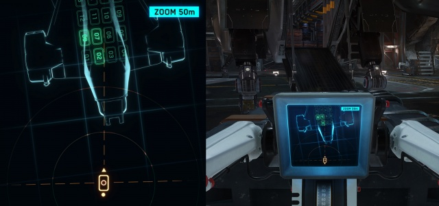 Star Citizen: Экран управления грузовым домкратом