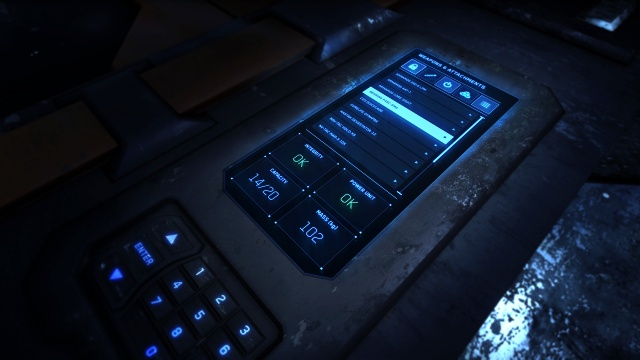 Star Citizen: Экран со списком груза