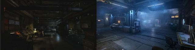 Star Citizen: Gold Horizon: До (слева) и После (справа) доработки