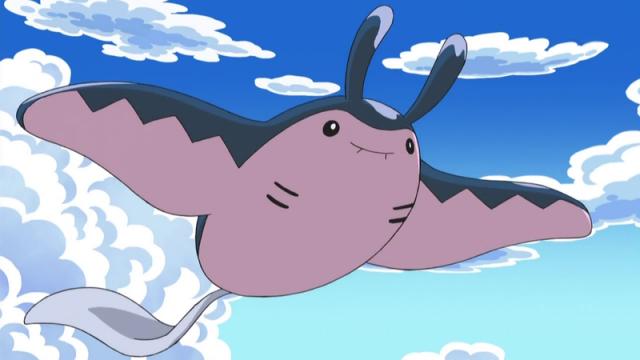 Mantine - покемон, способный перемещаться под водой и по воздуху