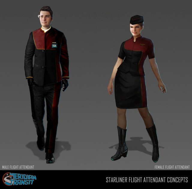 Star Citizen: Концепт-арт – бортпроводники компании Meridian