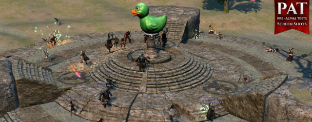 Camelot Unchained: Зеленая утка - знак того, что TDD владеют точкой.