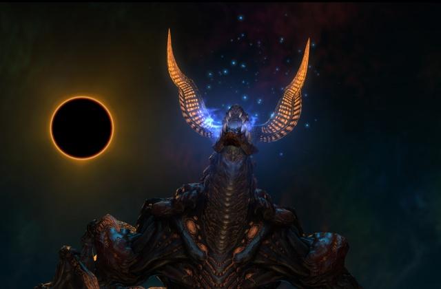 Final Fantasy XIV: А вот такая картинка у меня сейчас на рабочем столе. Это Lord of Inferno, ни много ни мало. Вся наша пати четыре раза от него дохла, вот результат несыгранного пати.