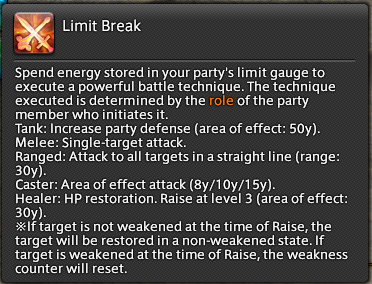 Final Fantasy XIV: Limit Break