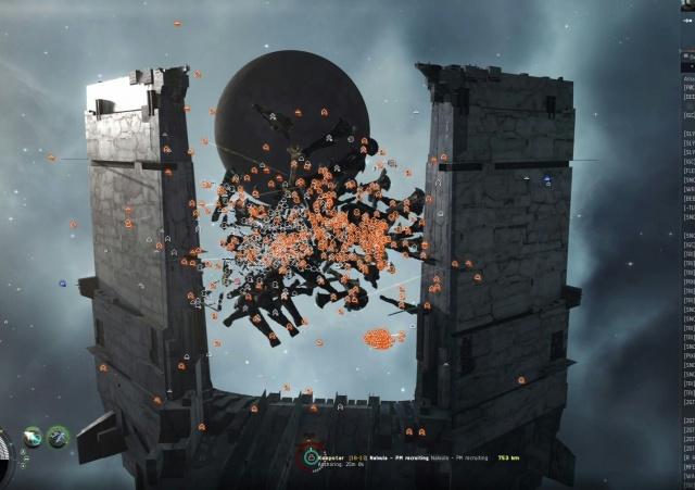 EVE Online: Первая цитадель класса Keepstar уничтожена в Nalvula.
