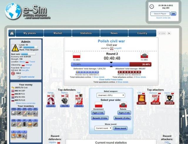 Браузерные Игры: Блог им. mif_ugra: E-sim.org - первые месяцы игры