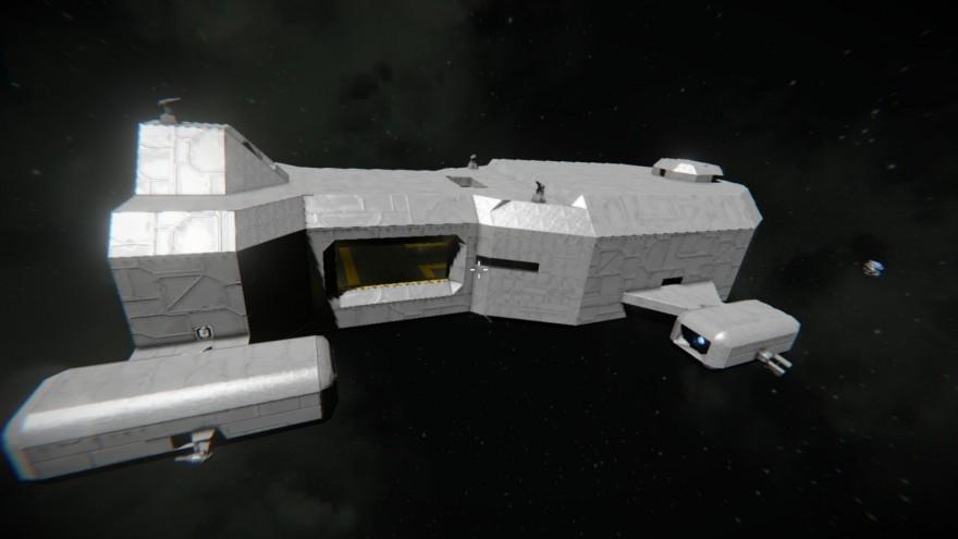 Space Engineers: Блог им. ADireWolf: Флагман-авианосец