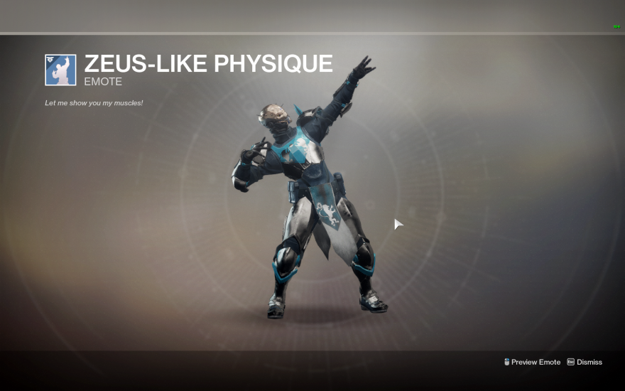 Destiny 2: Destiny II: Zeus Physique emote