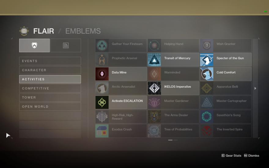 Destiny 2: Destiny II: Emblems