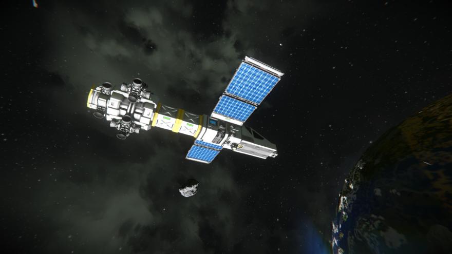 Space Engineers Полет в комосе