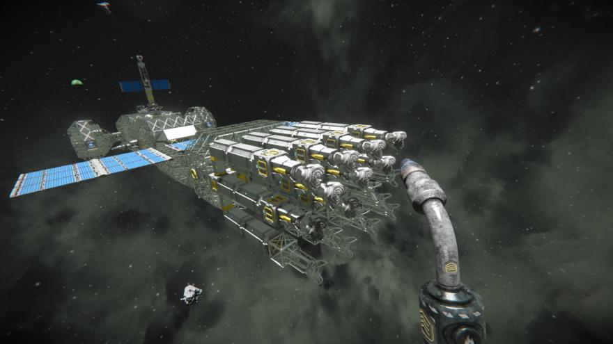 Space Engineers Модульный корабль
