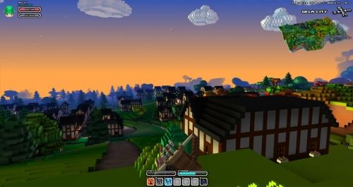 Cube World: Случайно генерируемые города