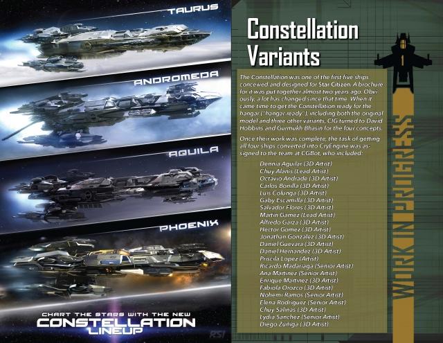 Star Citizen: В разработке: Модификации корабля Constellation