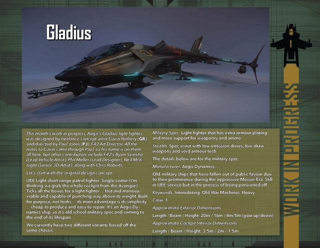 Star Citizen: В разработке: Gladius
