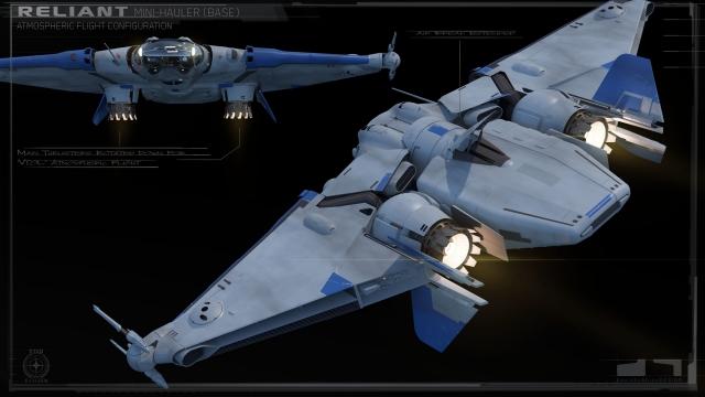Star Citizen: Работа над концептом корабля MISC Reliant