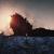 Встретили закат на вершине горы.