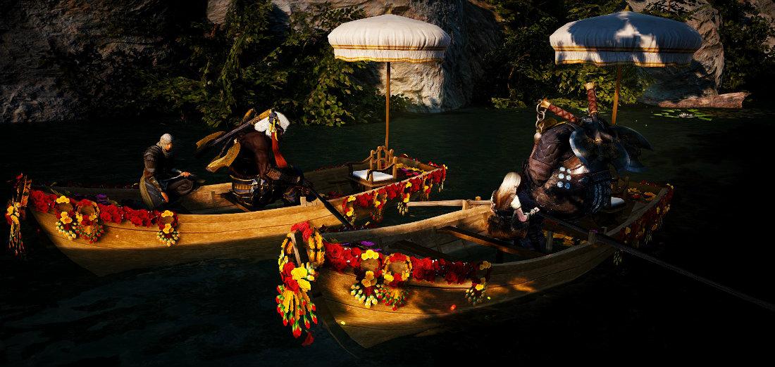 Black Desert: Вниз по реке Деми на цветочном каноэ