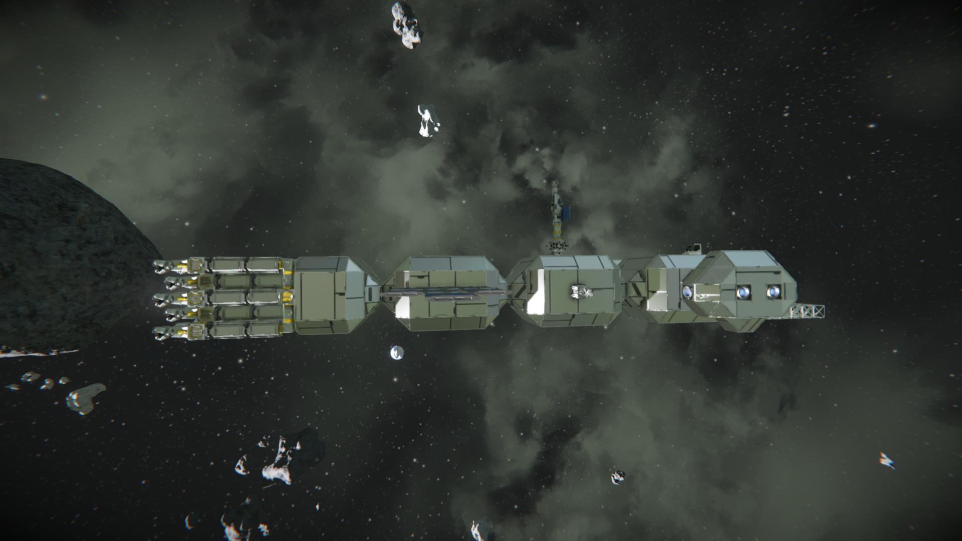 Space Engineers: Глава 8: Строительство большого материнского модульного корабля. Фаза 1