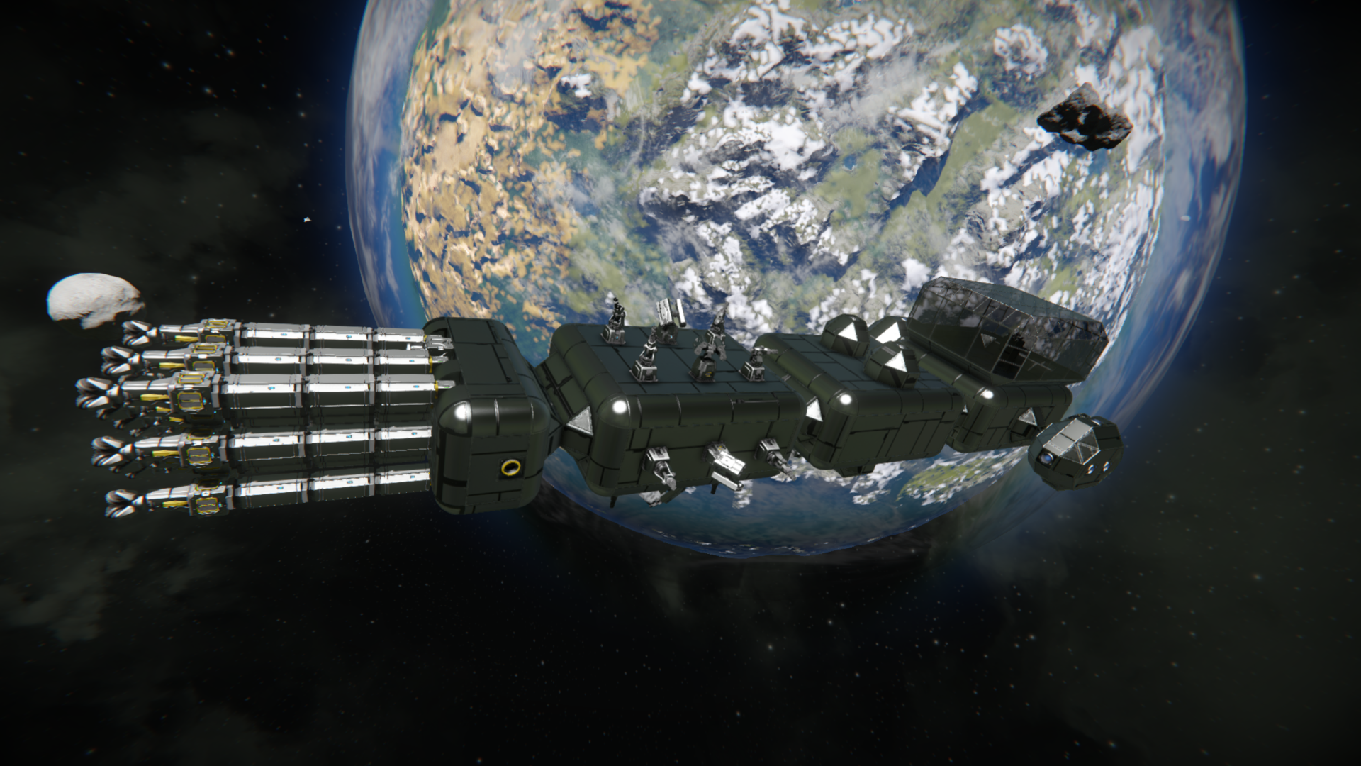 Space Engineers: Глава 9: Строительство большого материнского модульного корабля. Фаза 2. Перестройка
